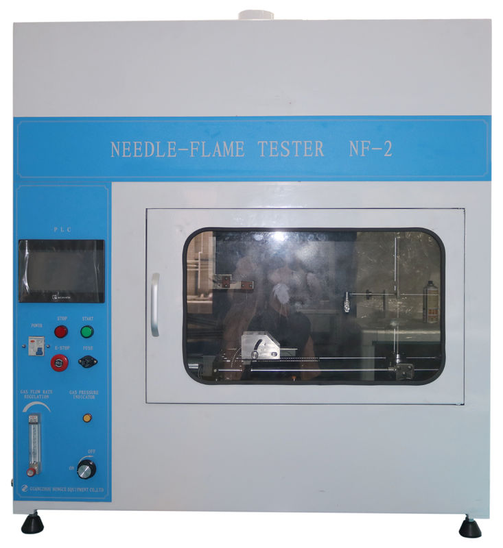 PLC Touch Screeen Flammability Tester Needle Flame Test Apparatus For Cable